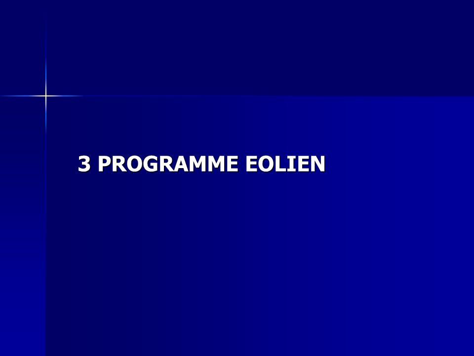 3 PROGRAMME EOLIEN