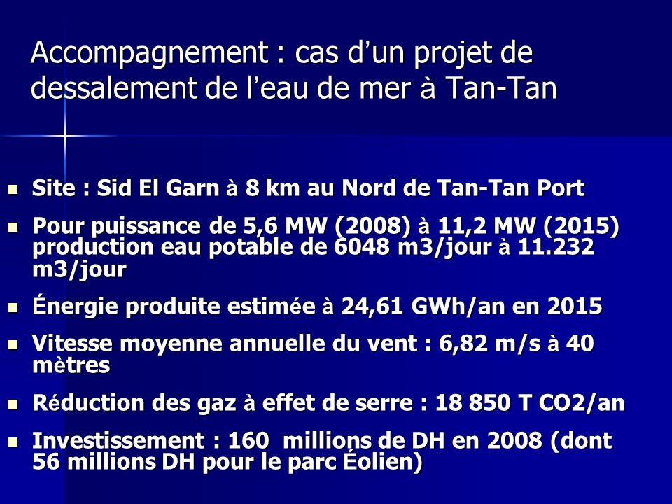 Accompagnement : cas d'un projet de dessalement de l'eau de mer à Tan-Tan