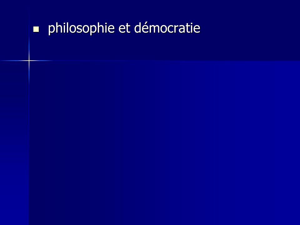 philosophie et démocratie