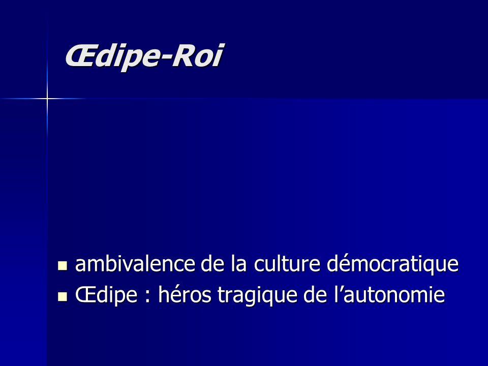 Œdipe-Roi ambivalence de la culture démocratique