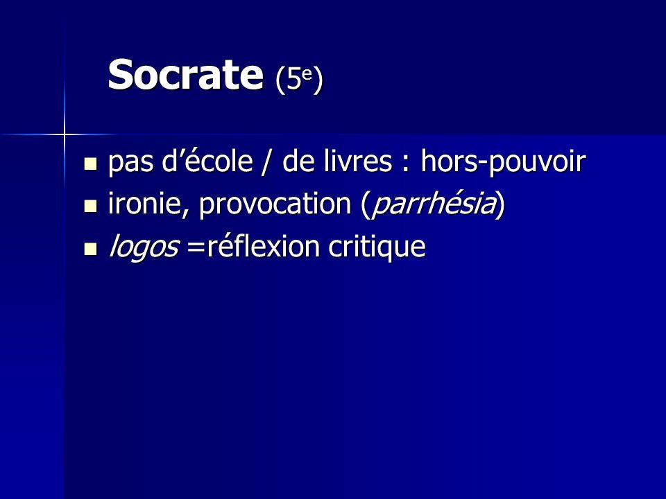 Socrate (5e) pas d'école / de livres : hors-pouvoir