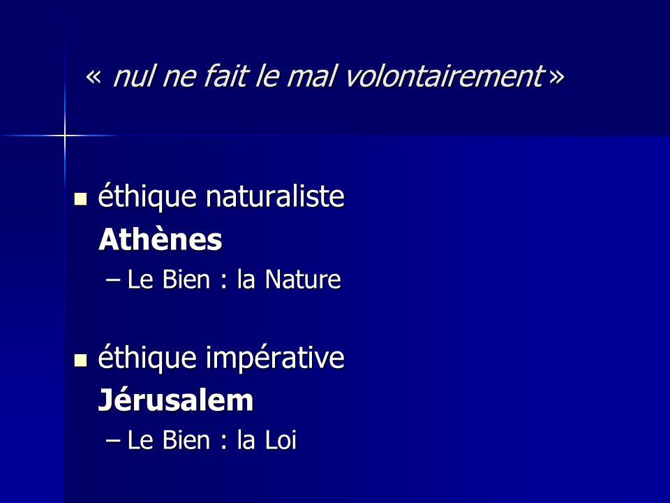 « nul ne fait le mal volontairement »