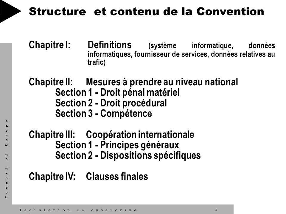 Structure et contenu de la Convention