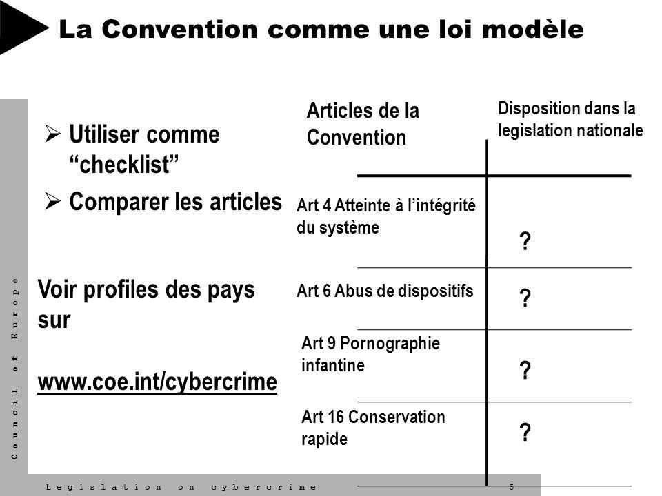 La Convention comme une loi modèle