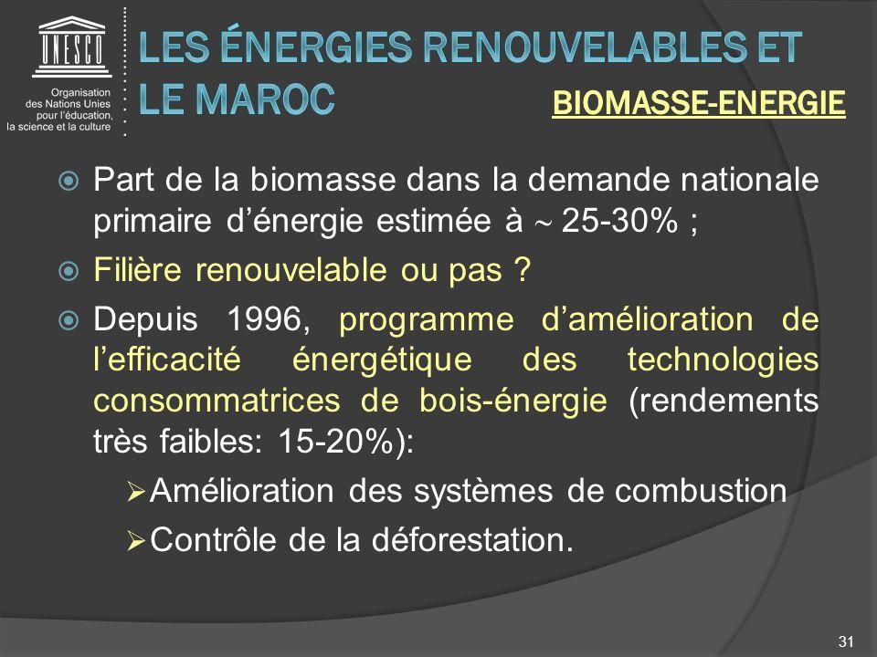 Les énergies renouvelables et le Maroc BIOMASSE-Energie