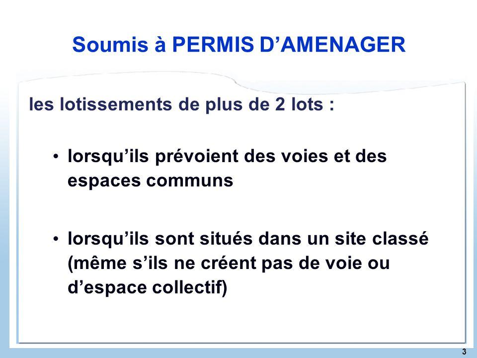 Soumis à PERMIS D'AMENAGER