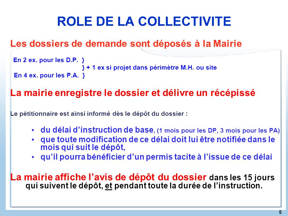 ROLE DE LA COLLECTIVITE