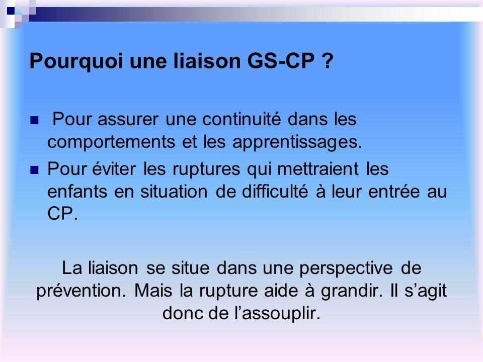 Pourquoi une liaison GS-CP