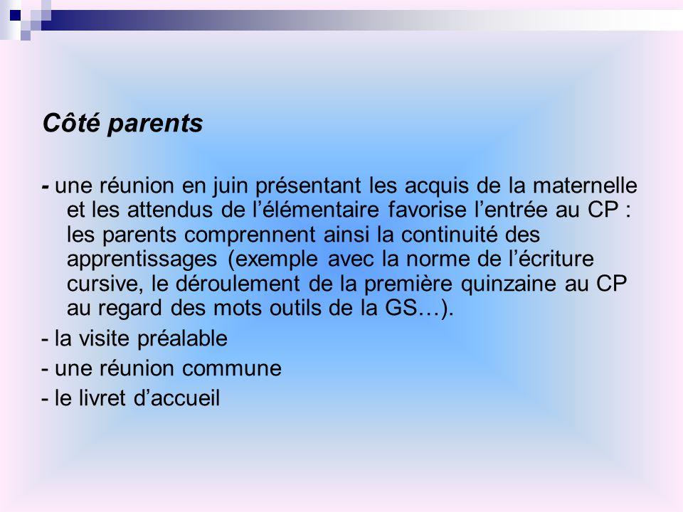 Côté parents