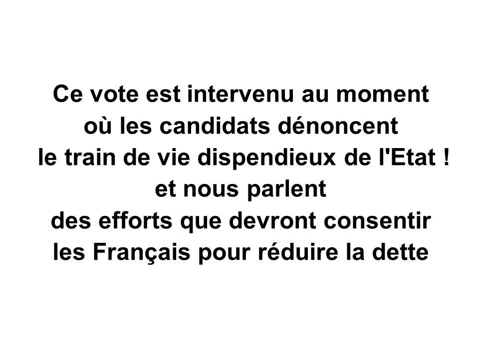 Ce vote est intervenu au moment où les candidats dénoncent