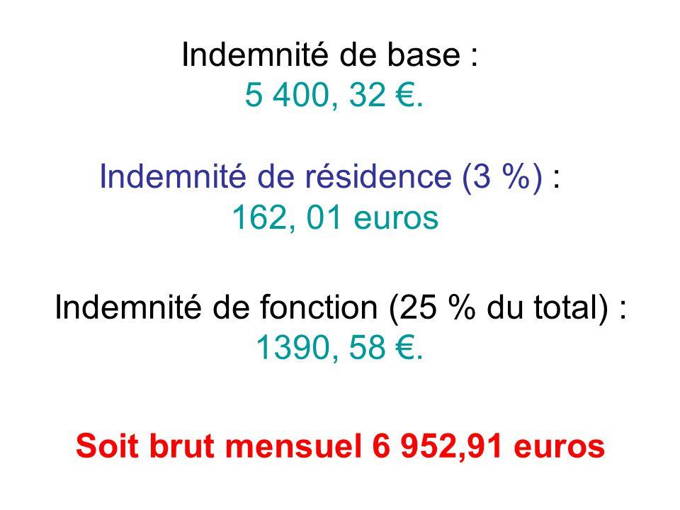 Soit brut mensuel 6 952,91 euros