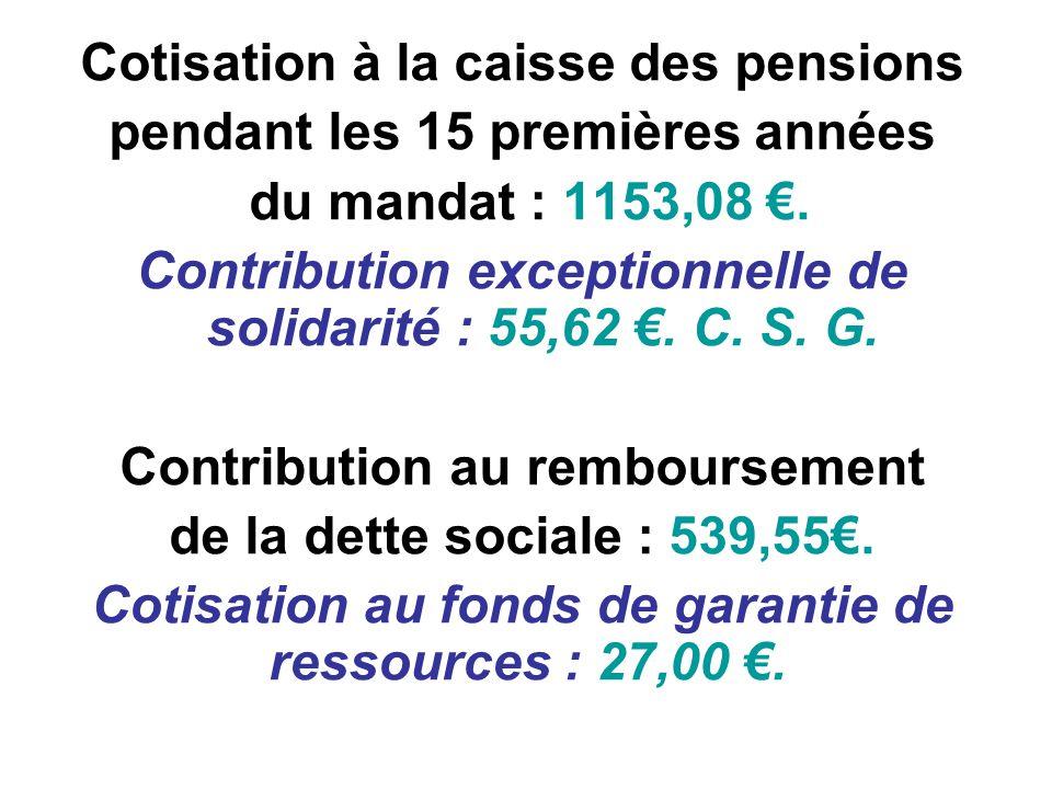Cotisation à la caisse des pensions pendant les 15 premières années