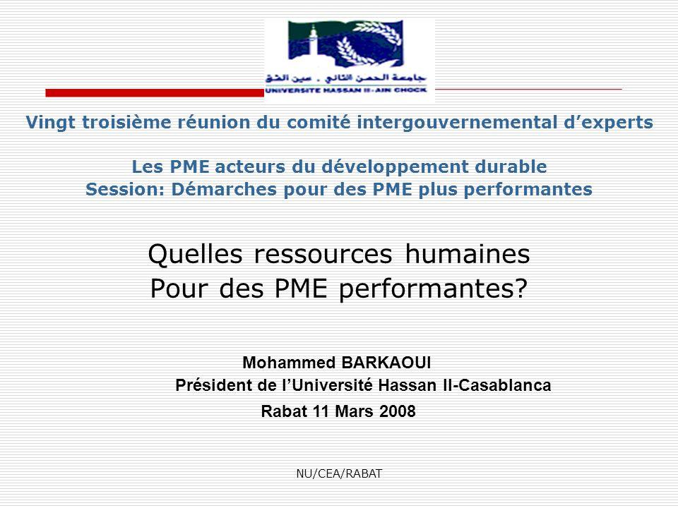 Quelles ressources humaines Pour des PME performantes