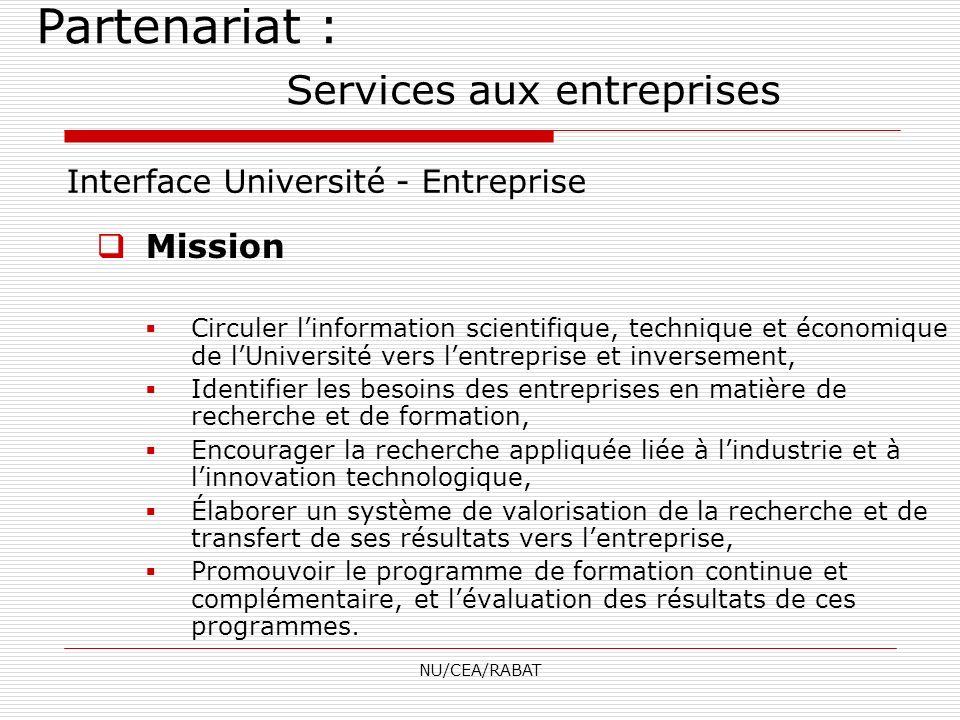 Partenariat : Services aux entreprises