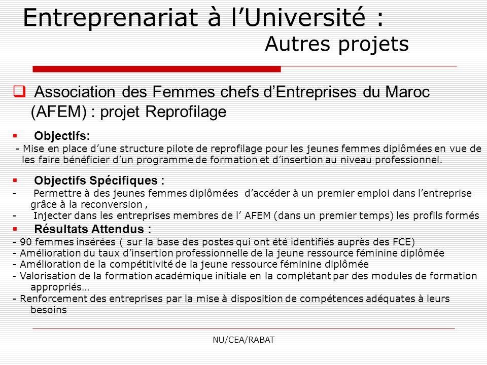 Entreprenariat à l'Université : Autres projets