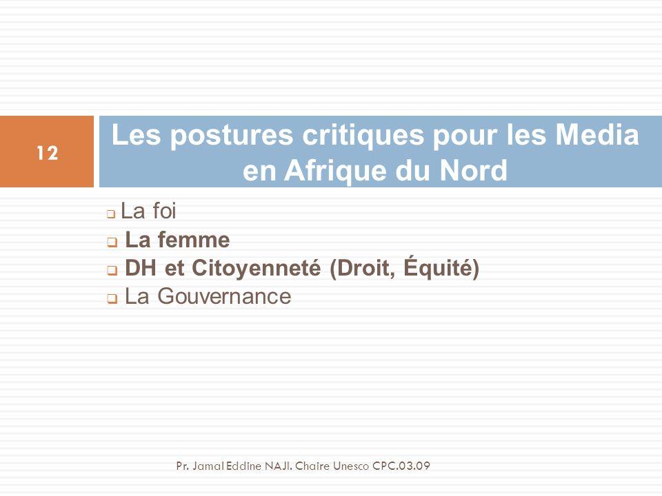 Les postures critiques pour les Media en Afrique du Nord