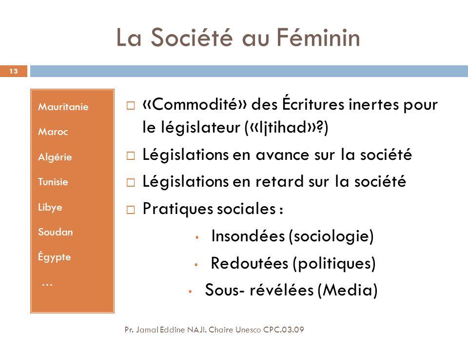 La Société au Féminin Mauritanie. Maroc. Algérie. Tunisie. Libye. Soudan. Égypte. …