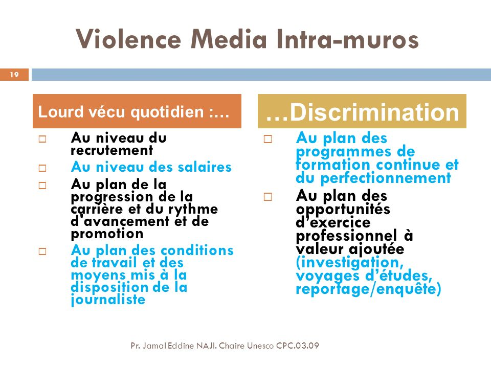 Violence Media Intra-muros