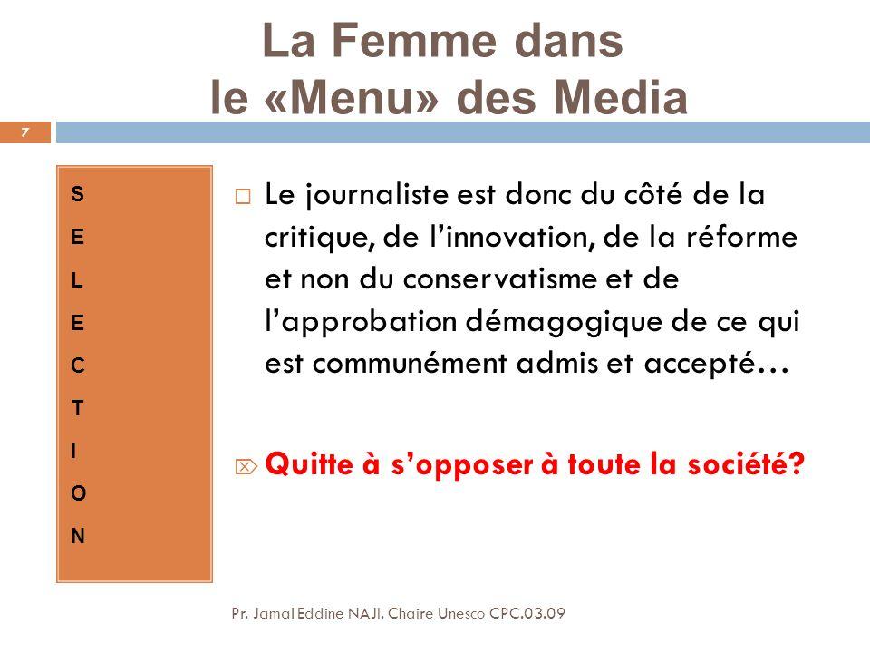 La Femme dans le «Menu» des Media