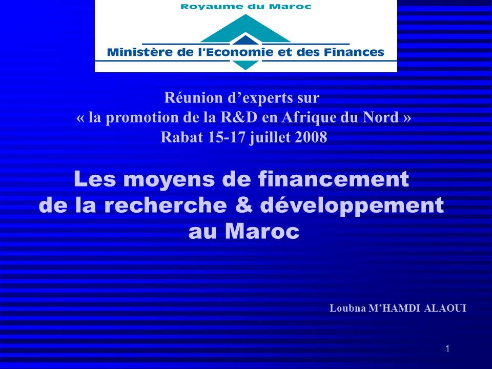 « la promotion de la R&D en Afrique du Nord »
