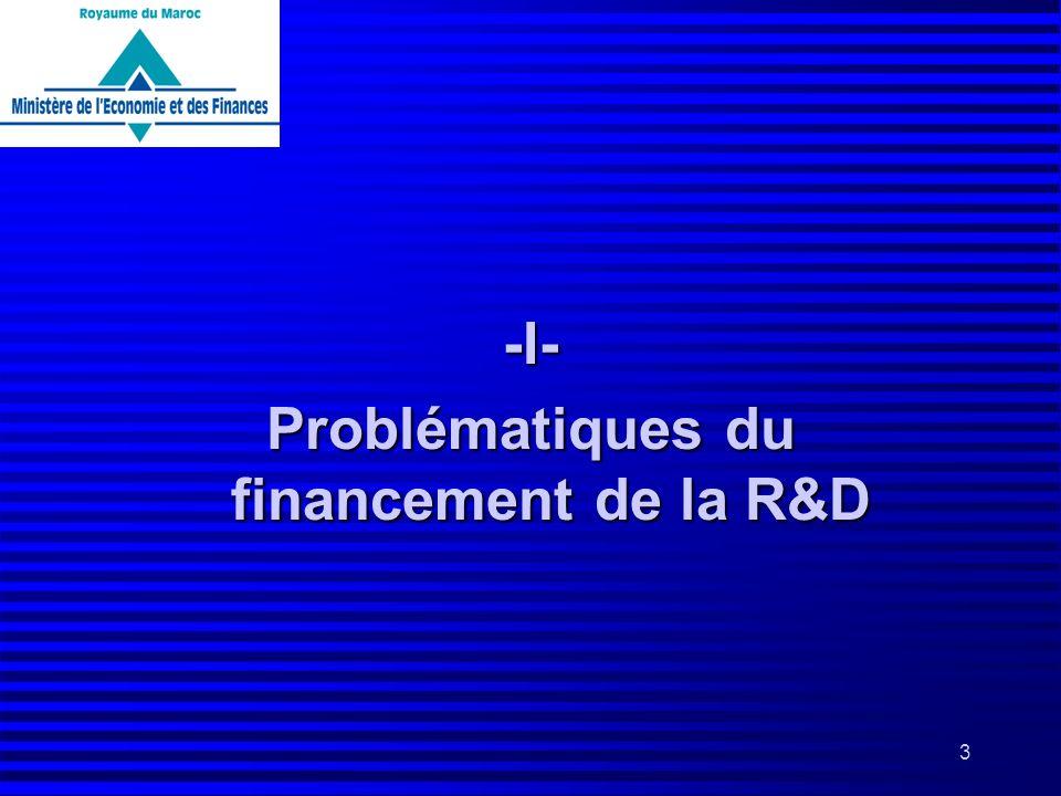 Problématiques du financement de la R&D