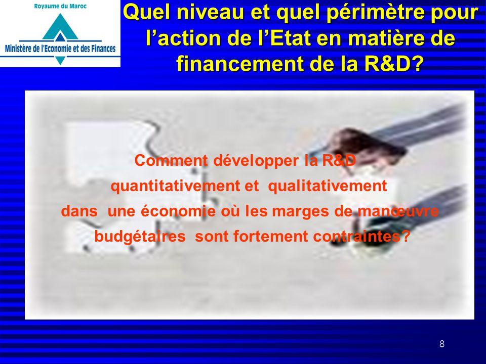 Quel niveau et quel périmètre pour l'action de l'Etat en matière de financement de la R&D