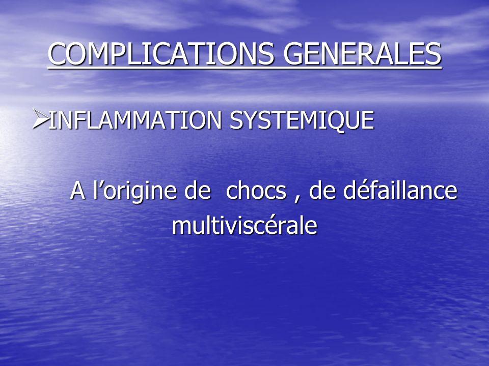 COMPLICATIONS GENERALES