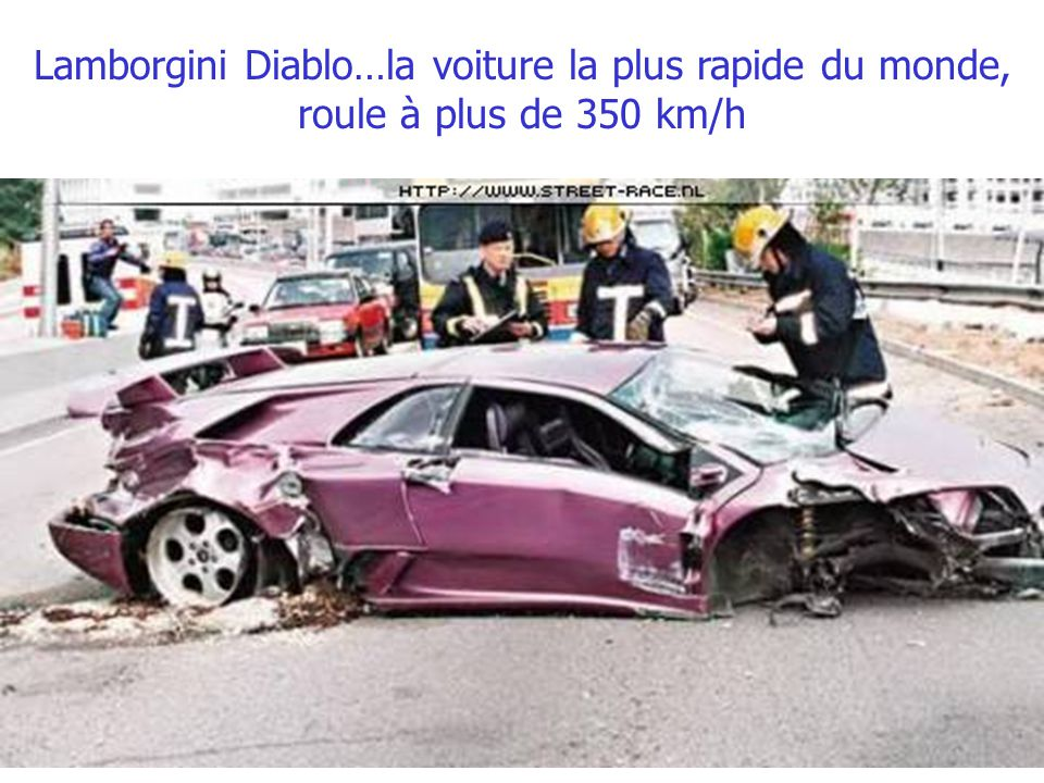 Lamborgini Diablo…la voiture la plus rapide du monde, roule à plus de 350 km/h