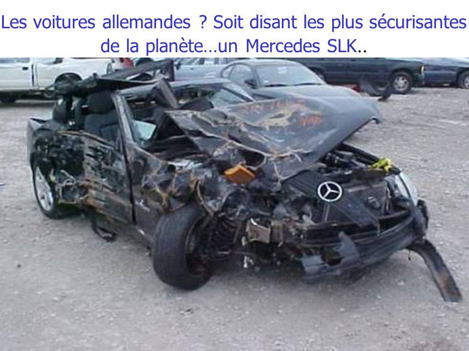 Les voitures allemandes Soit disant les plus sécurisantes