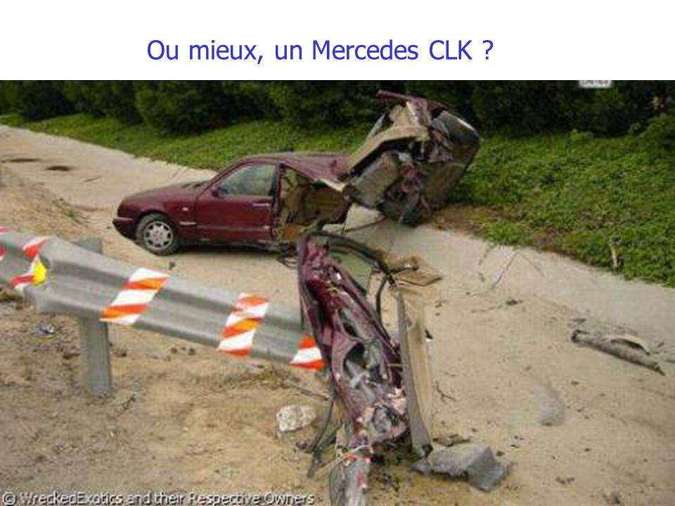 Ou mieux, un Mercedes CLK