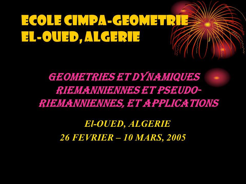 ECOLE CIMPA-GEOMETRIE EL-OUED, ALGERIE