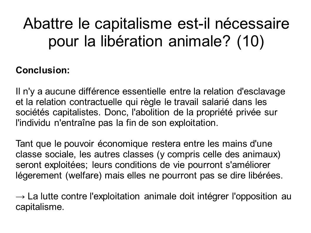 Abattre le capitalisme est-il nécessaire pour la libération animale