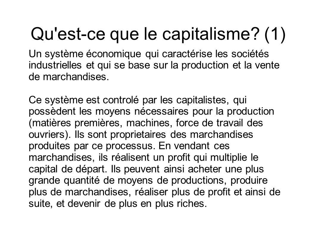 Qu est-ce que le capitalisme (1)