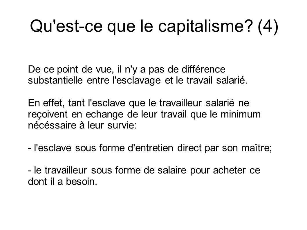 Qu est-ce que le capitalisme (4)