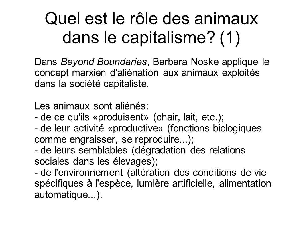 Quel est le rôle des animaux dans le capitalisme (1)