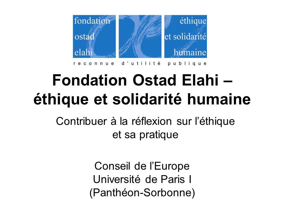 Fondation Ostad Elahi – éthique et solidarité humaine