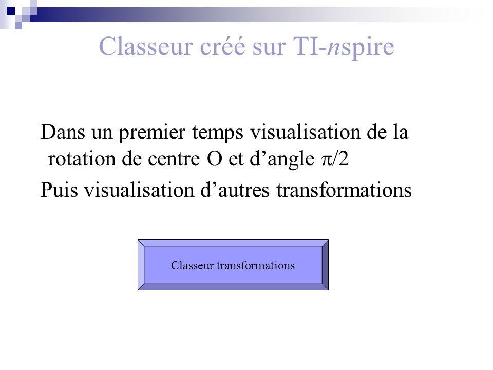 Classeur créé sur TI-nspire