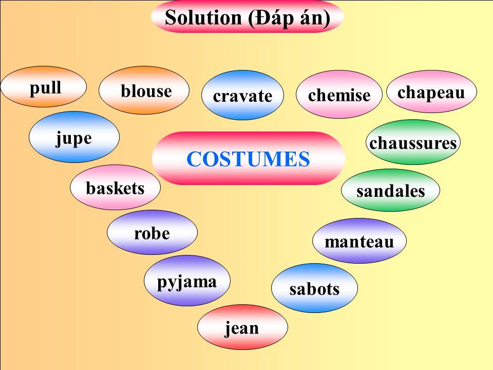 Solution (Đáp án) COSTUMES