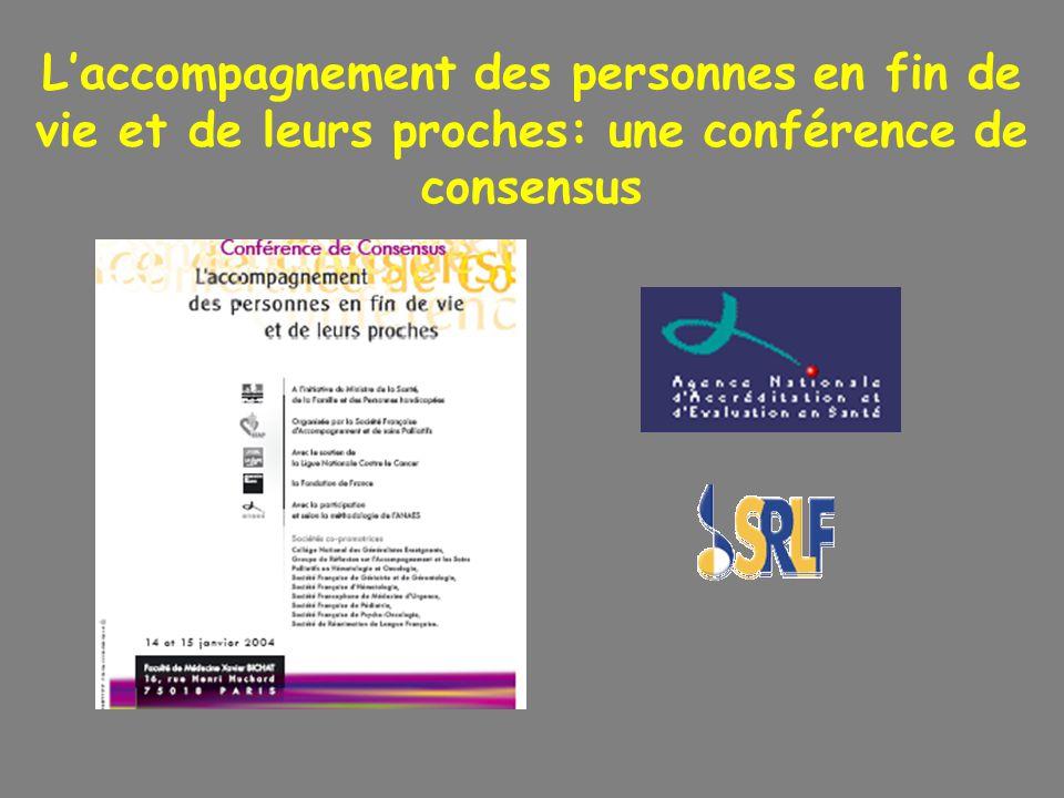 L'accompagnement des personnes en fin de vie et de leurs proches: une conférence de consensus