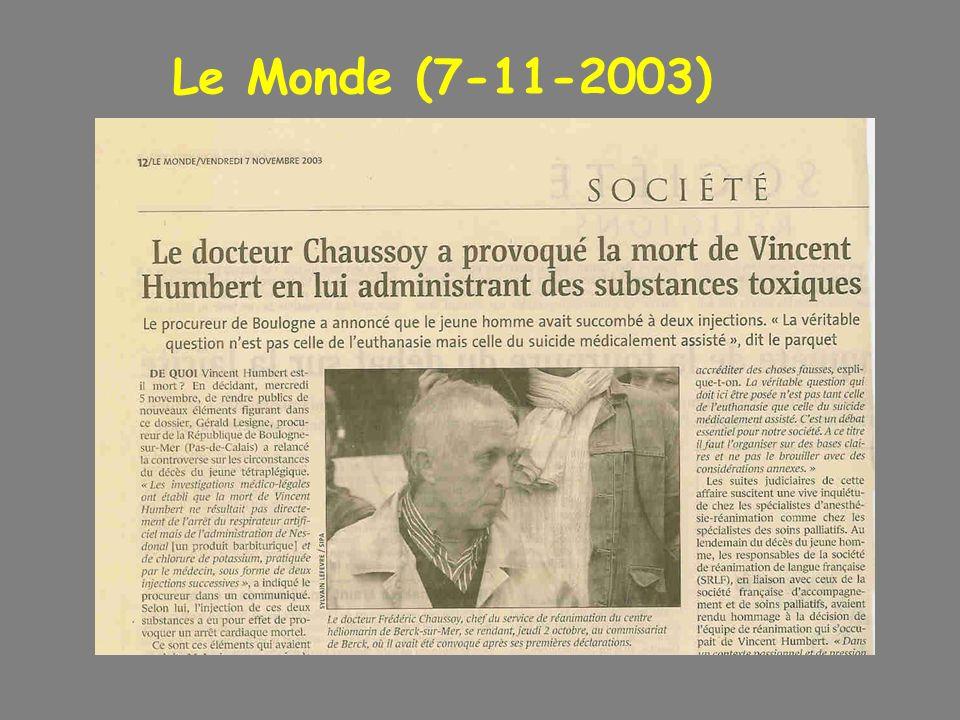 Le Monde (7-11-2003)