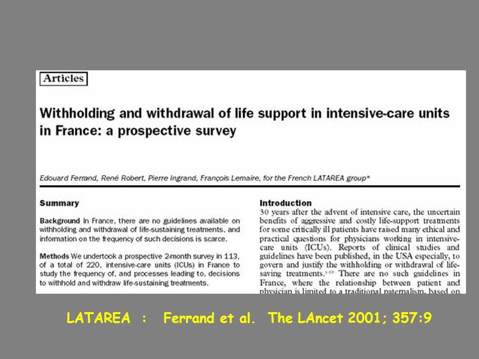 LATAREA : Ferrand et al. The LAncet 2001; 357:9