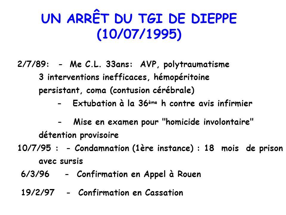 UN ARRÊT DU TGI DE DIEPPE (10/07/1995)