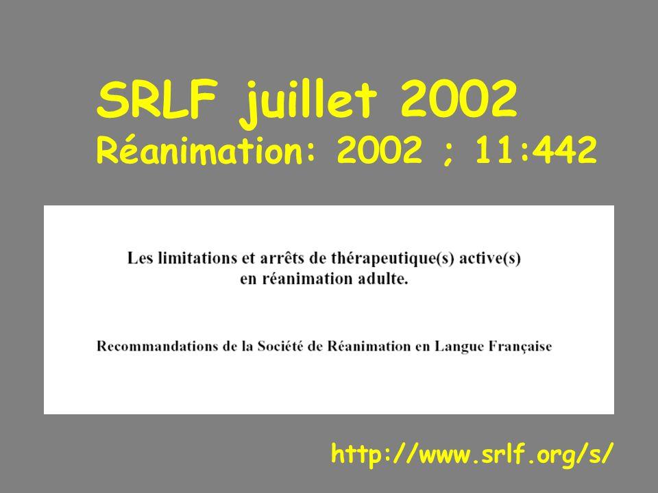 SRLF juillet 2002 Réanimation: 2002 ; 11:442