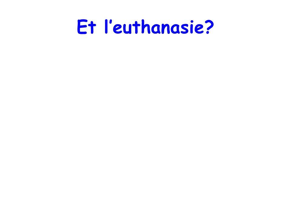 Et l'euthanasie