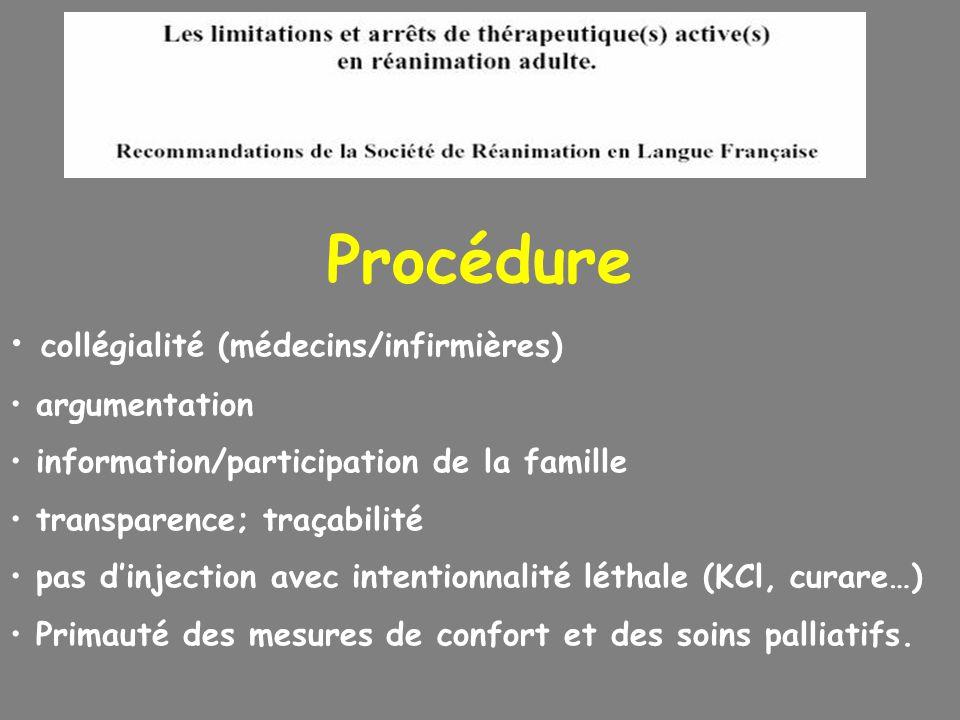 Procédure collégialité (médecins/infirmières) argumentation