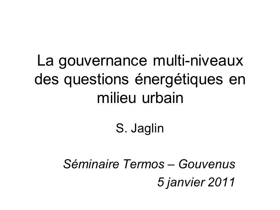 S. Jaglin Séminaire Termos – Gouvenus 5 janvier 2011