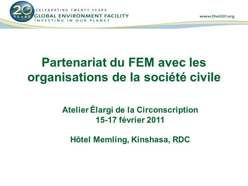 Partenariat du FEM avec les organisations de la société civile