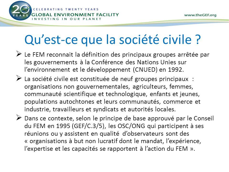 Qu'est-ce que la société civile