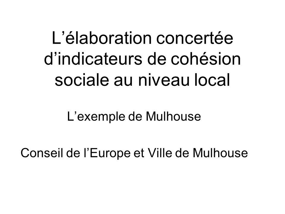 L'exemple de Mulhouse Conseil de l'Europe et Ville de Mulhouse
