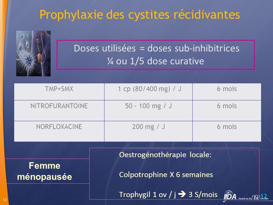 Prophylaxie des cystites récidivantes